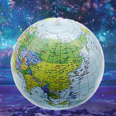 """Funny 1X Geography Toy Inflatable World Globe 40CM 16"""" inch Earth Atlas Ball Map"""