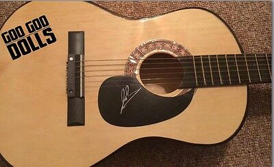 Goo Goo Dolls Johnny Rzeznik signed acoustic Guitar