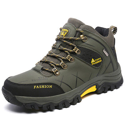 GOMNEAR men big size trail hiking boots waterproof antiskid shock absorb shoes