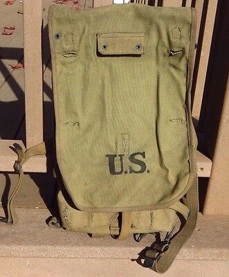 WW1 US ARMY MILITARY M1910 Haversack Pack Backpack CLEAN LONG 1918