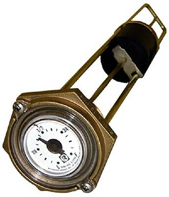 "Rochester 8280 Series ""Marine"" Flat Dial Vertical Fuel or Water Level Gauge 30"""