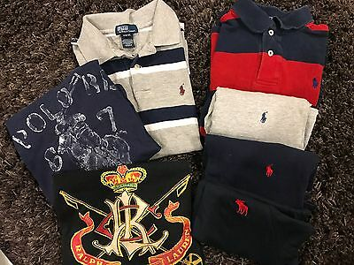 Polo Ralph Lauren and Abercrombie & Fitch Lot of 7 Kids Boys Shirts Size 8 Small