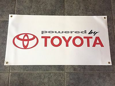Powered by Toyota banner sign shop garage Nascar Racing Development off-road