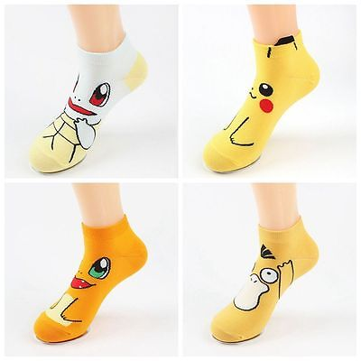 Anime Cosplay Mint Terrapins And Duck Cartoon Pokemon Pikachu Short Socks