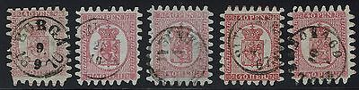 Finland Scotts# 10 (x5) - Roulette and Cancel Varieties - Lot 011816