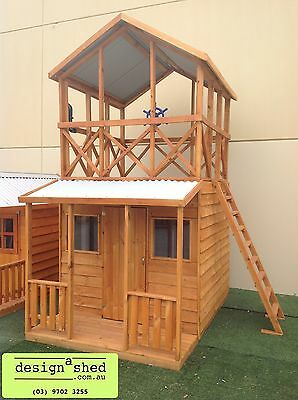 Cubby House Kids New HIS & HERS FORT Melbourne made Solid wood Friendly service