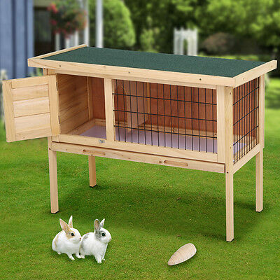 2016 New Extra Large Rabbit Hutch Cage Guinea Pet House Run 91 x 45 x 70cm UK