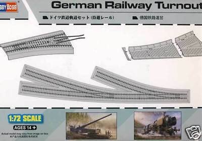 Rails Track bed Tracks with 2 Junction 1:72 Model construction set Railway