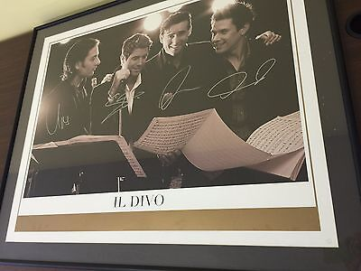 """IL DIVO LIMITED NUMBERED AUTOGRAPHED SIGNED POSTER FRAMED 39""""x32"""""""