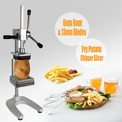 3 Blades Potato French Fries Chips Fruit Vegetable Cutter Slicer Commercial Home