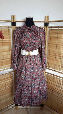 Robe vintage col Lavallière, Pin-Up, Rockabilly. Manches longues. Taille 42.