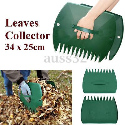 2pcs/set  PP Leaf Rake Lawn Leaves Collector Grass Hand Claws Garden Yard Tool