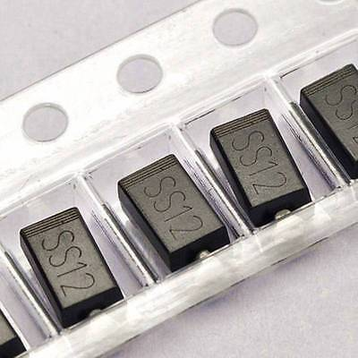 100PCS SS12 1N5817 1A/20V SMA DO-214AC SMD Schottky Diodes NEW