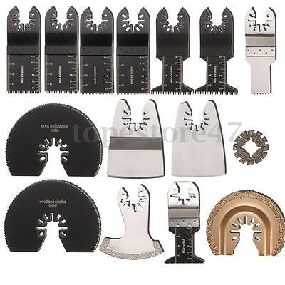 15PCS Mix Blade Blades Oscillating Multitool Kit for ROCKWELL SONICRAFTER WORX
