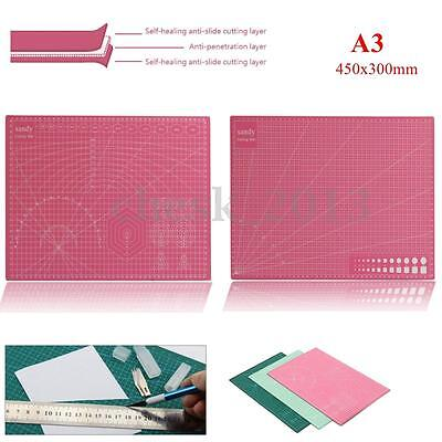 A3 Self Healing Cutting Mat Non Slip PVC Printed Grid Lines Board Craft Model
