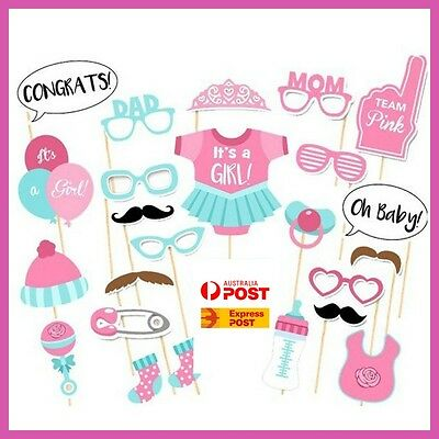 Baby Shower Photo Booth Props Baby Shower Games Girl Pink