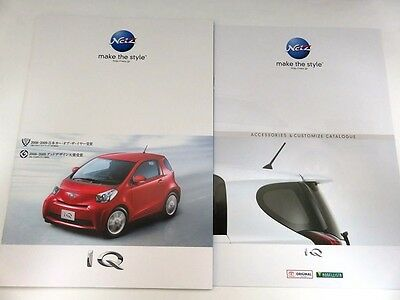 2009 TOYOTA IQ Japanese Brochure & Accessories Catalogue