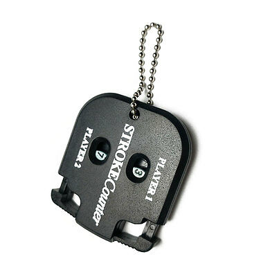New Golf Count Stroke Putt Counter Scoring Keeper Golfing with Key Chain Black