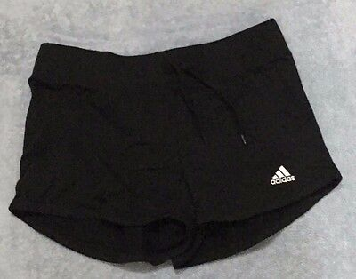Girls Adidas Size 13-14y Jersey Shorts - BNWT - Black - ONE ONLY