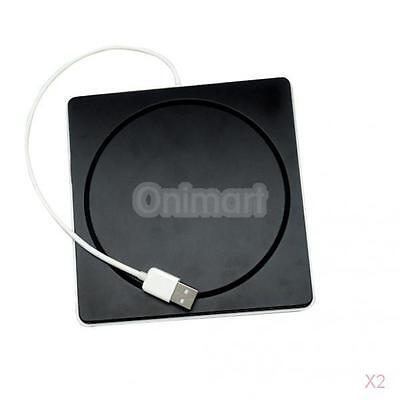 2x USB Ranura Externa En DVD CD Carcasa Unidad SuperDrive P/MacBook Air Pro