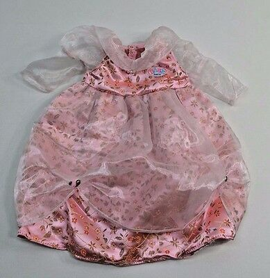 Zapf Creation Baby Born Dress Floral Pearl Necklace Pink Flowers Tulle