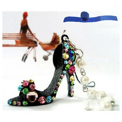 Rhinestone Diamante High Heel Shoe Chain for Phone Car Bag Key Ring keychain FK