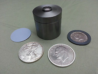 """5/8"""" Coin Ring Center Punch Set for American Silver Eagle, & 2 spacers"""
