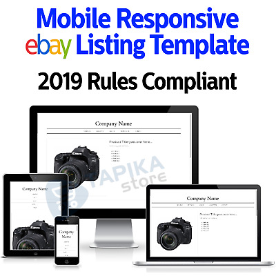 eBay Template Listing Auction 2019 Design Responsive Professional Compliant Html