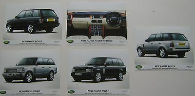 Range Rover x 5 original black & white Press Photographs New Range Rover 2001