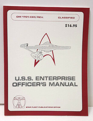 1980s Star Trek USS Enterprise Officer's Manual- Reference Book-123 Pages