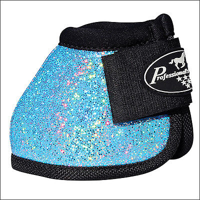 Glitter Turquoise Med Professional Choice Secure Fit Overreach Horse Bell Boots