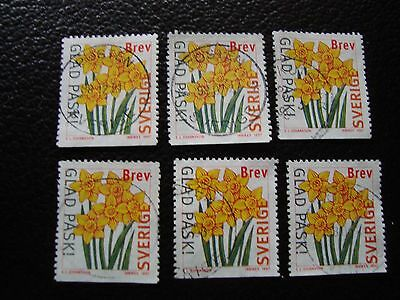 SUEDE - timbre yvert et tellier n° 1975 x6 obl (A29) stamp sweden (A)