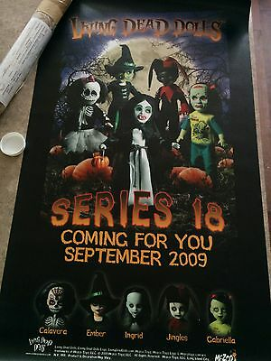 Living Dead Dolls Series 18 Retail Vinyl Banner 2009 - Limited Edition of 200