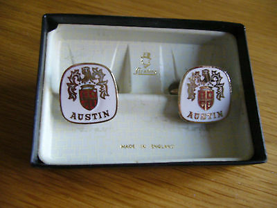 Austin  Original  Logo Cufflinks   Produced  By Stratton Factory Showroom Aid