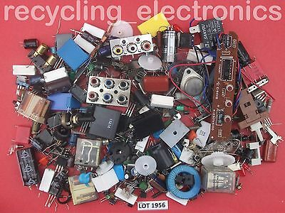 Bag of Vintage Electronic Components Mixed Pack Lot 1956