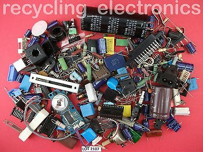 Bag of Vintage Electronic Components Mixed Pack Lot 2107