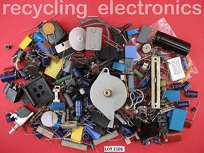Bag of Vintage Electronic Components Mixed Pack Lot 2105