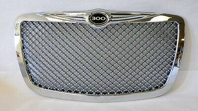 Chrysler 300 300C 2005-2010 Chrome Bentley Style Front Grill w/ 300 Badge