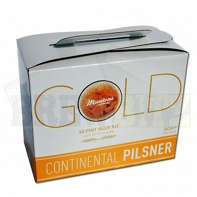 Muntons Gold Continental Pils Kit - 40 Pints home brew beer wine making