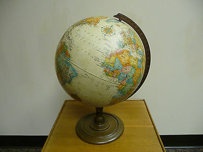 "Vintage Replogle 12"" diameter globe World classic series by LeRoy M. Tolman"