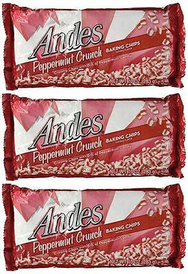3 Packs Andes Peppermint Crunch Baking Chips Free Shipping