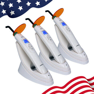 NEW 1 Set Dental LED Curing Light with Metering System Wireless 800-1800 mw/cm²