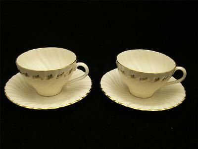 Franciscan PATRICIAN SWIRL Masterpiece China - Tea for Two Cups & Saucers - 1961