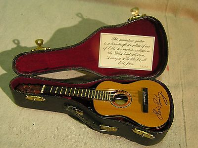 """ELVIS Graceland Collection Handcrafted Replica Guitar W/ Stand & Case 8"""""""