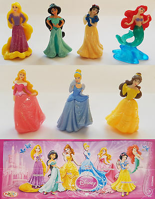 Kinder Disney Princess Cake Topper Figure Ariel Aurora Rapunzel Belle Snow White
