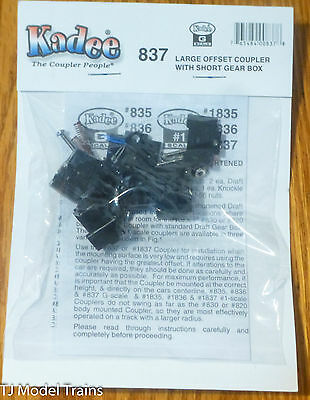 Kadee #837 (G Scale) Large Offset Coupler w/Short Gear Box