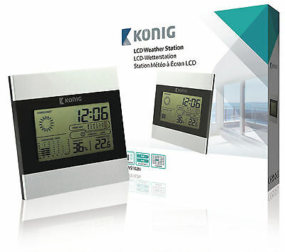 Konig LCD weather station detailed forecasts & current weather conditions