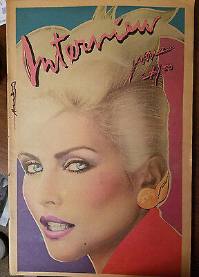 **signed** Andy Warhol June 1979 Interview Magazine - Debbie Harry