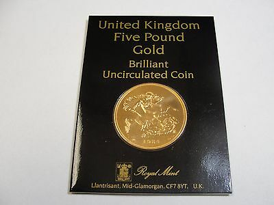 Collectors Edition 1984 5 Pound Sovereign Gold Uncirculated Coin W/ Original Box
