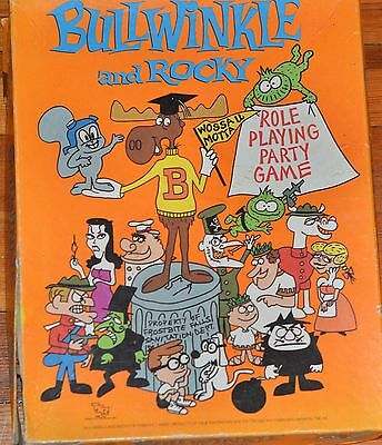 Vintage~BULWINKLE AND ROCKY Role Playing Party Game~Board Game~